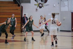 Grace Dengler (#21) and Mary Vilardi (#24) during Friday's win over Raritan.