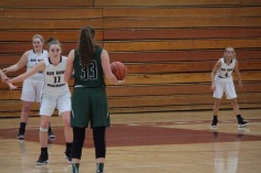 Noelle Halpin (#44), Brenna Bonner (#4), and Meghan Murray (#11) during Friday's win over Raritan.
